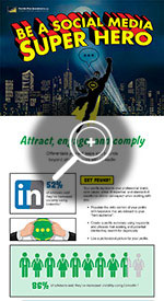 Social Media Super Hero Inforgraphic